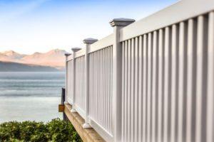 Vedlikeholdsfritt rekkverk i PVC for veranda,terrasse,platting